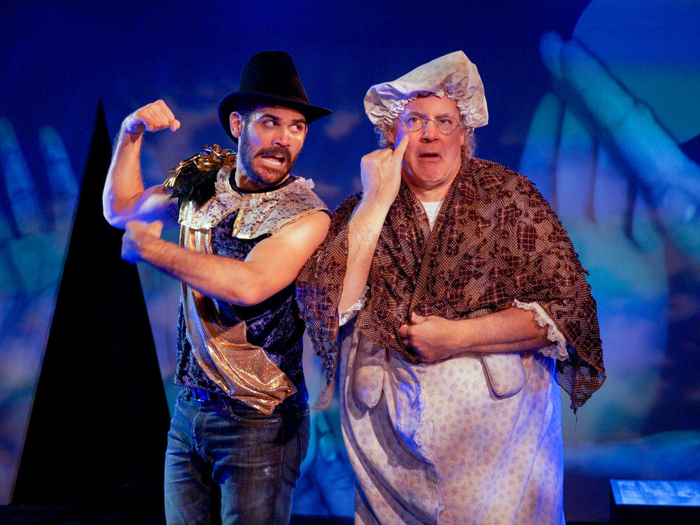 David Honigman (left) and co-director Michael J. Stark (right) in the production of  Little Red Cyrano  at Red Theater Chicago. Photo by M. Freer Photography