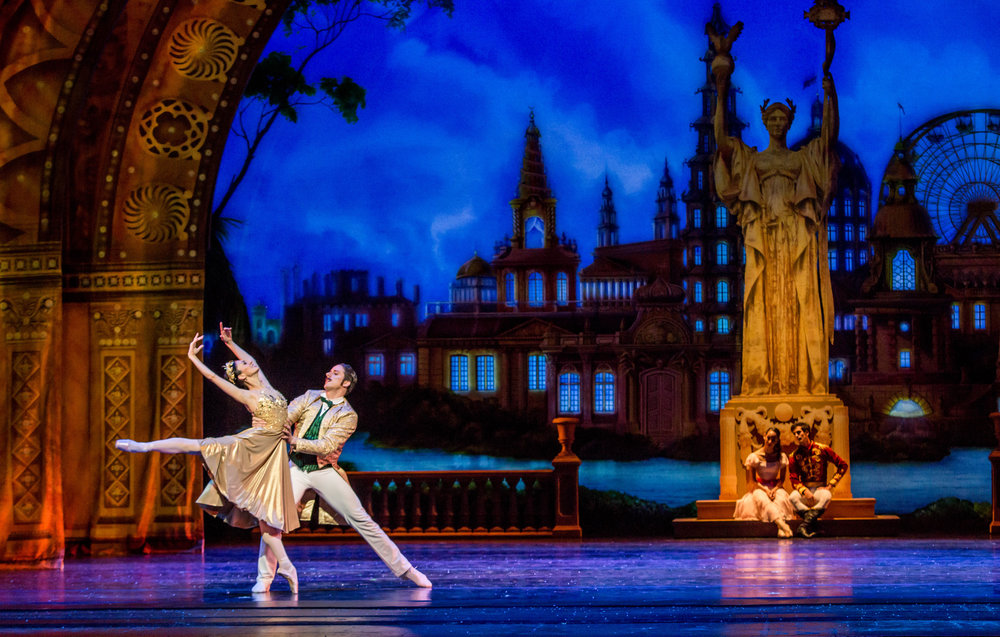 Victoria Jaiani and Miguel Blanco in  The Nutcracker.  Photo by Cheryl Mann