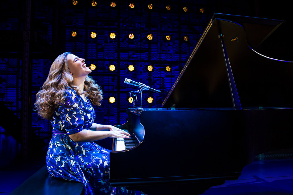 Sarah Bockel as Carole King. Photos by Matthew Murphy.
