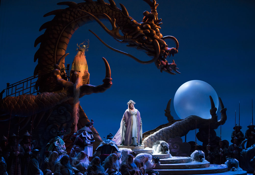 Josh Lovell and Amber Wagner in TURANDOT at Lyric Opera. Photo by Todd Rosenberg.