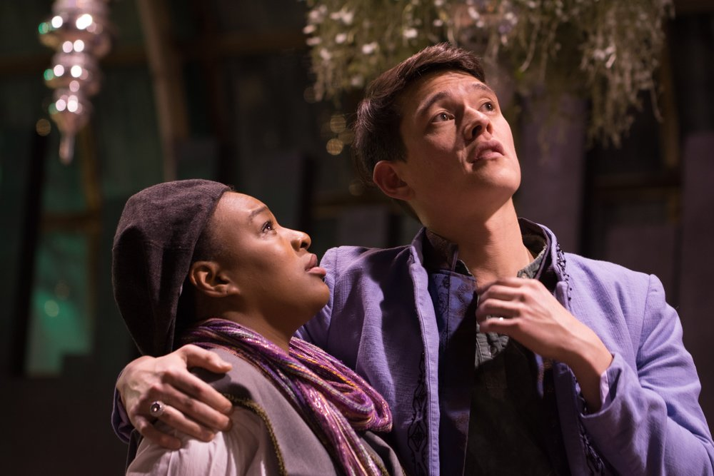 LaKecia Harris and  Ian Michael Minh in Twelfth Night. Photo by Tom McGrath, TCMcG Photography