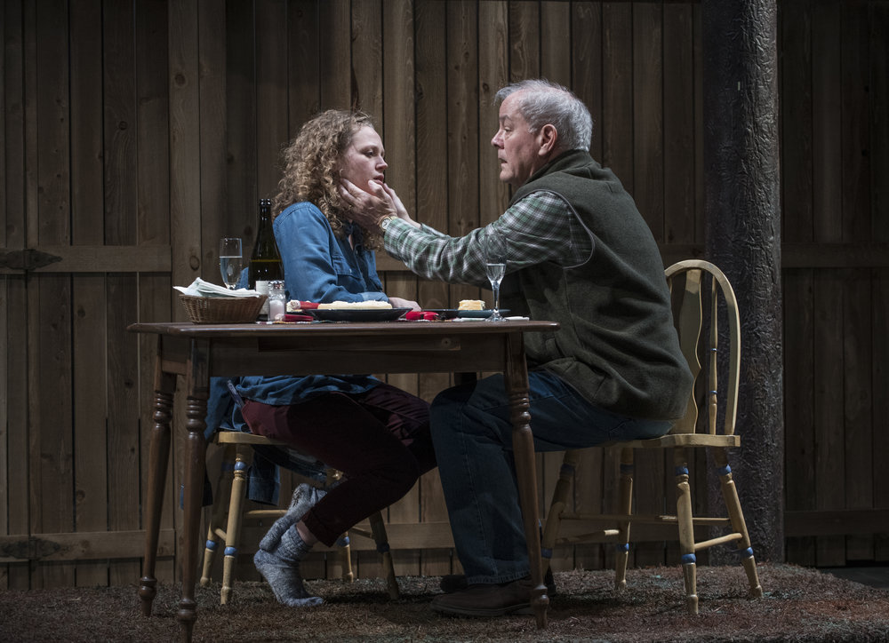 Pictured (L to R): Ensemble members Caroline Neff (Mae) and Francis Guinan (Dad) in Steppenwolf's Chicago premiere production of You Got Older by Clare Barron, directed by Jonathan Berry.