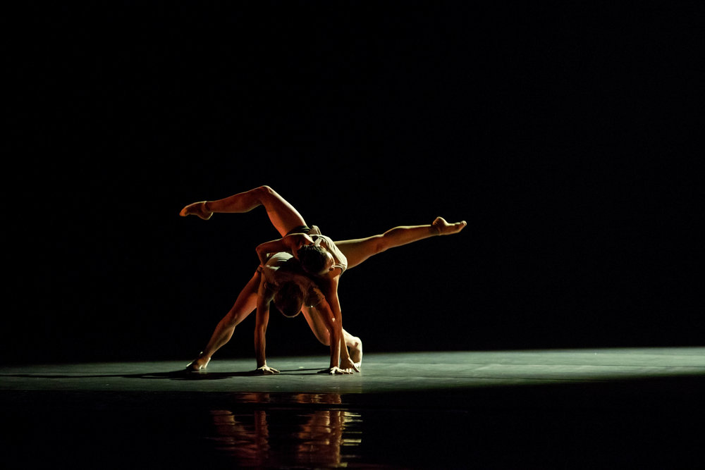Hubbard Street Dancers Kellie Epperheimer and Alicia Delgadillo in Alejandro Cerrudo's Silent Ghost. Photo by Cheryl Mann.