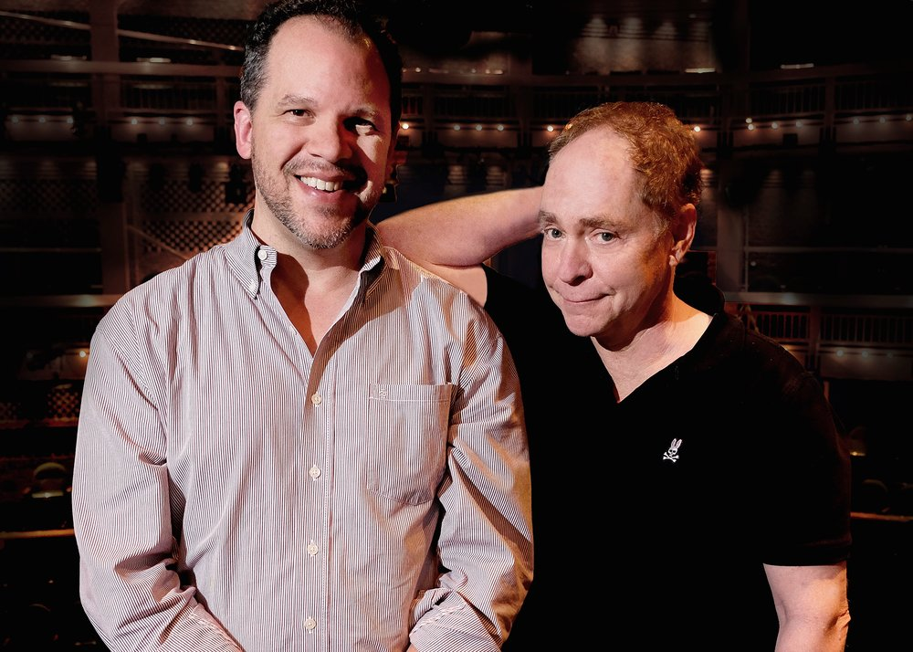 Directors Aaron Posner and Teller. Photo by Bill Burlingham
