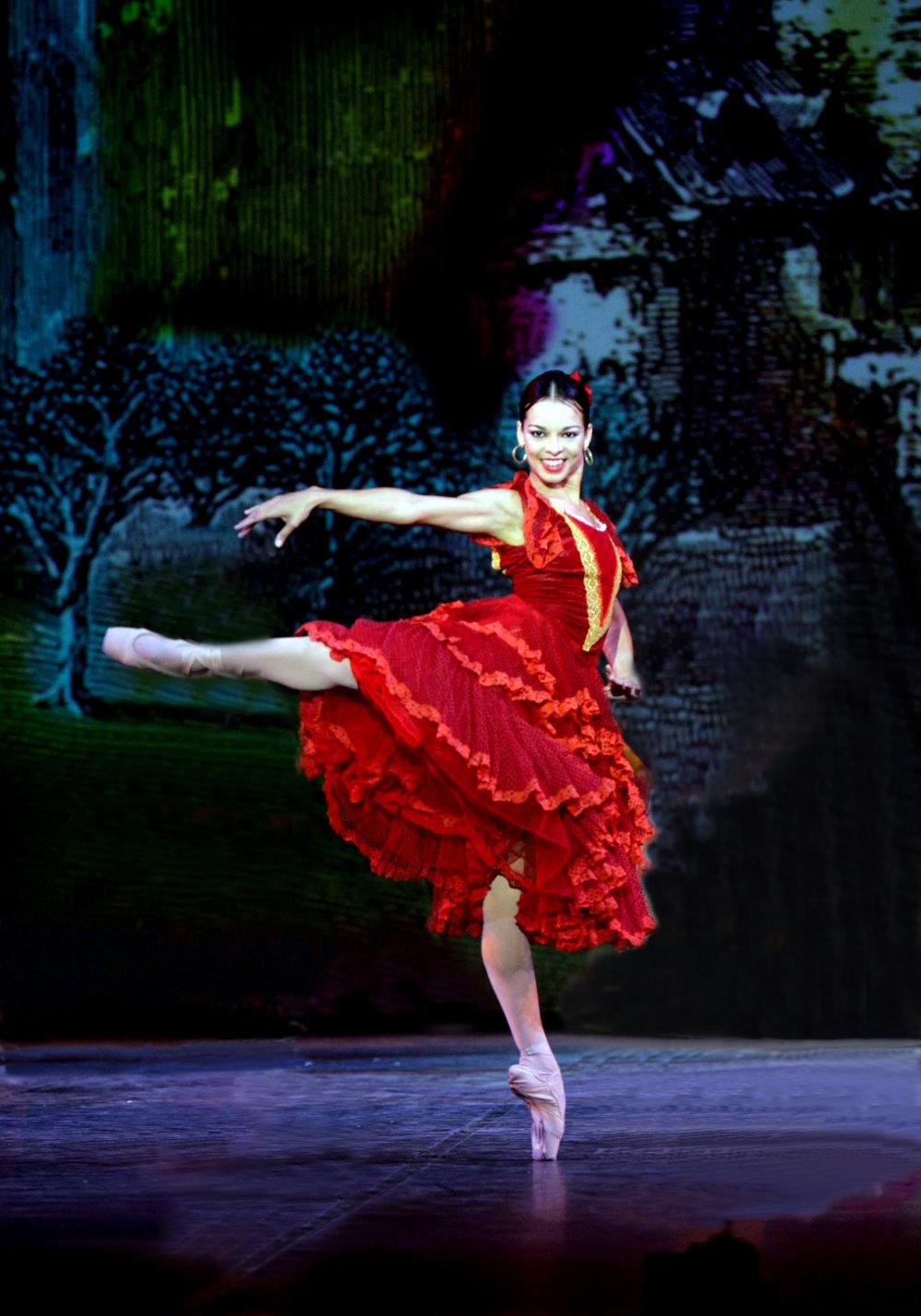 Ballet Nacional de Cuba's Viengsay Valdés, photo by Jacques Moatti