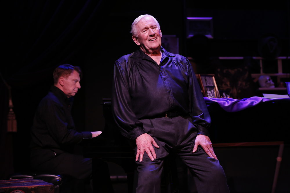 "Len Cariou (center) and Mark Janas accompanying in ""Broadway and The Bard"" at Stage 773."