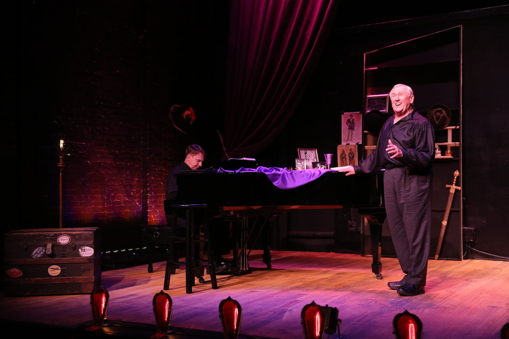 "Len Cariou (right) and Mark Janas accompanying in ""Broadway and The Bard"" at Stage 773."