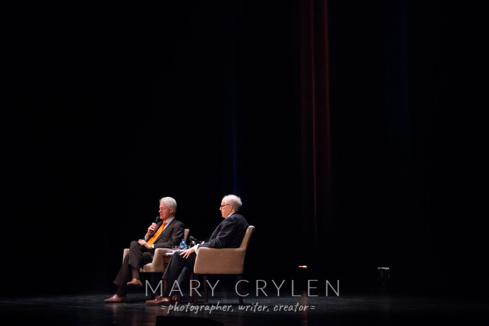 A Conversation with Bill Clinton, moderated by Bob Barnett. Photo by Mary Crylen.