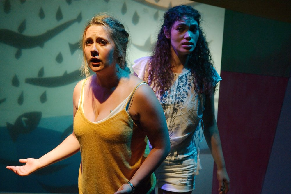 (L to R) Martin Diaz-Valdes; Steph Vondell as Maria; Victor MaranÞa.  Photo by Anthony Aicardi.