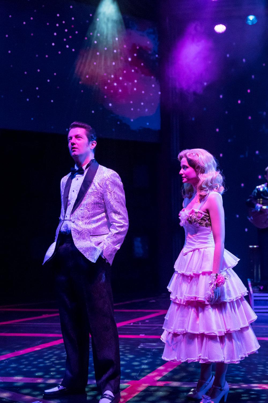 Eddie  Clendening  (Elvis)  and  Erin  Burniston  (Dixie  Locke)