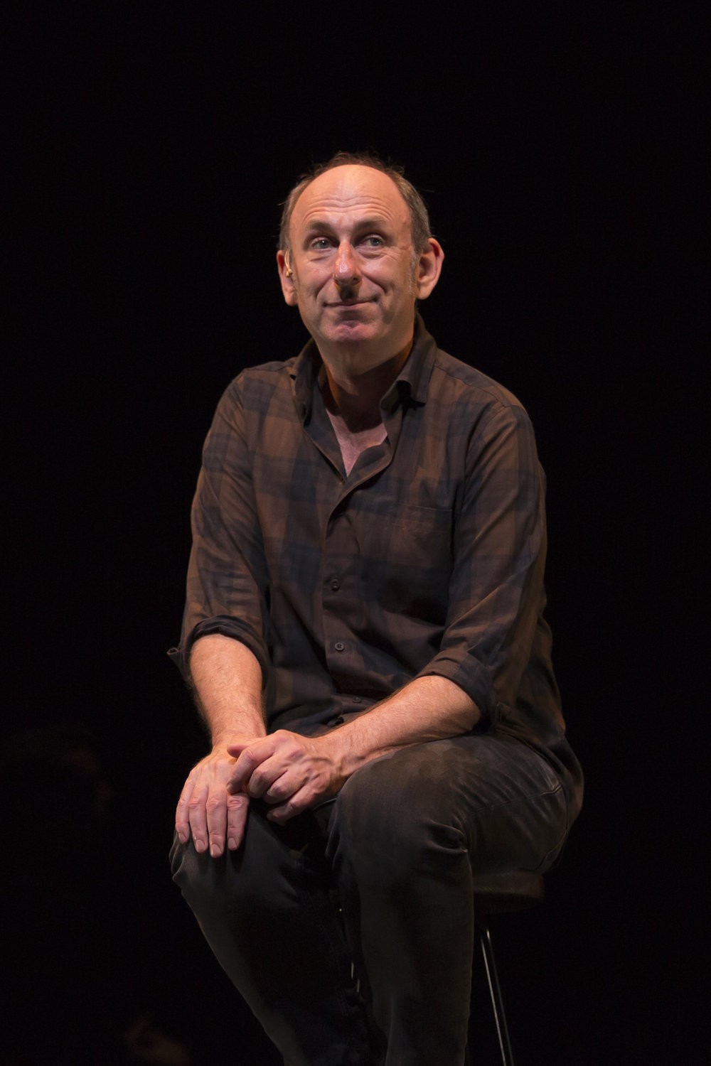 Playwright and performer  David Cale  in his world premiere solo musical memoir   We're Only Alive for A Short Amount of Time.
