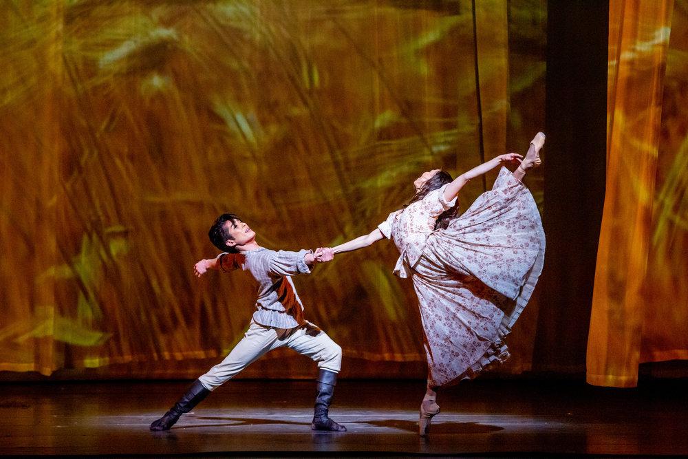 Yoshihisa Arai and Anais Bueno in Anna Karenina. Photo by Cheryl Mann.