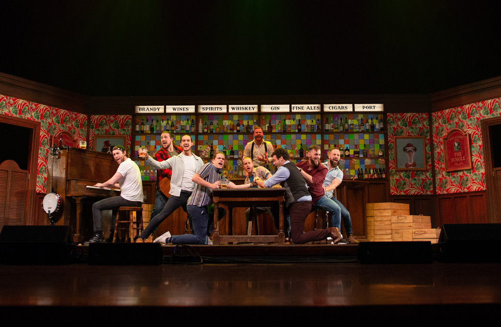 The cast of The Choir of Man. Photos by Brian Wright.