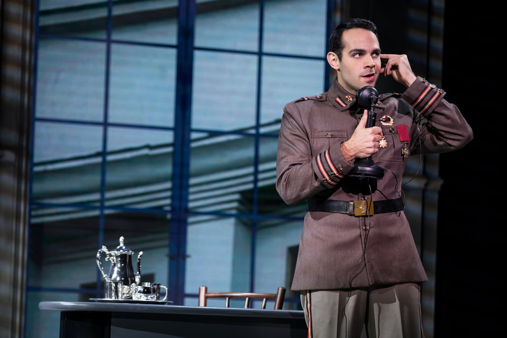 Jason Michael Evans (Gleb) in the National Tour of ANASTASIA. Photo by Matthew Murphy, MurphyMade.