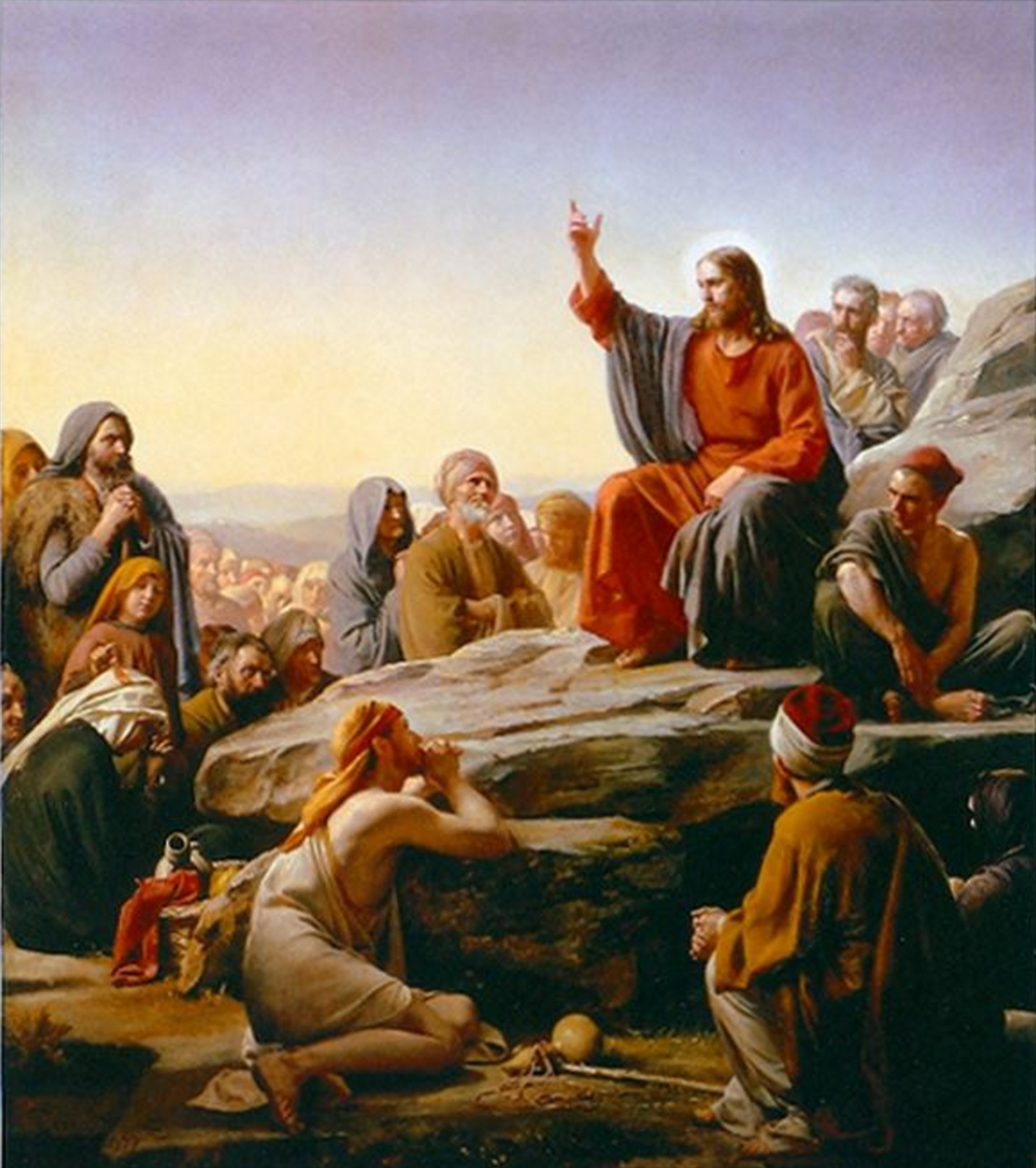 The Sermon on the Mount. Painting by Carl Bloch.