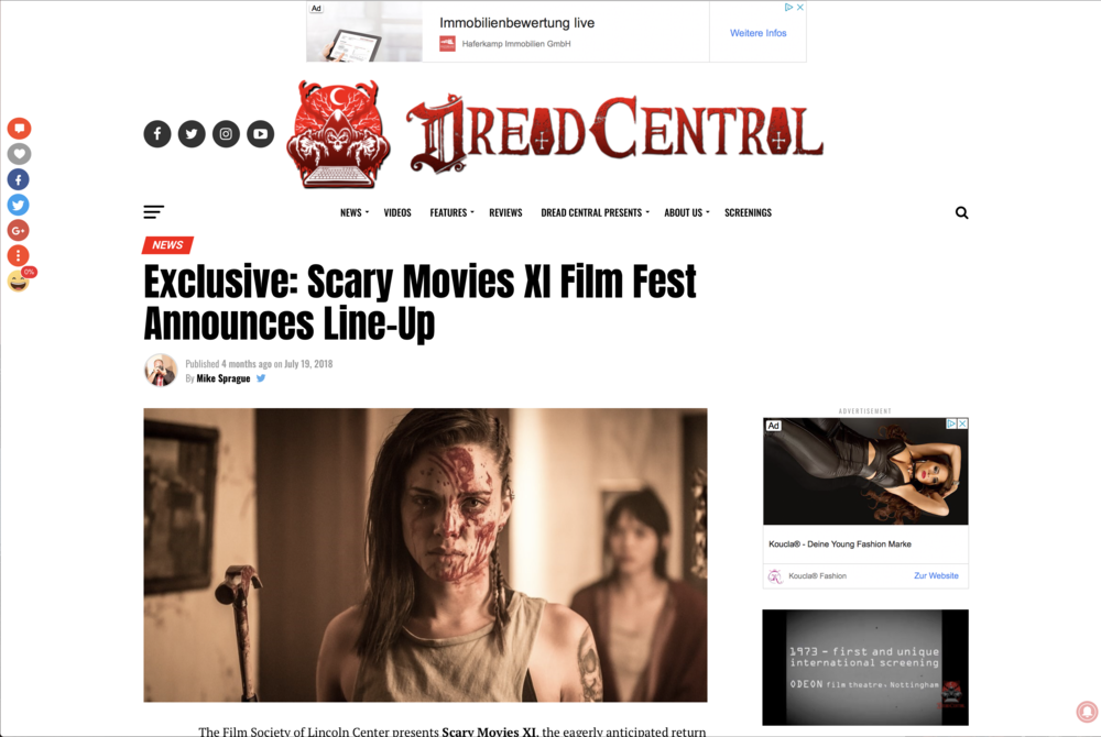DREAD CENTRAL - Unpredictable! [Mike Sprague]