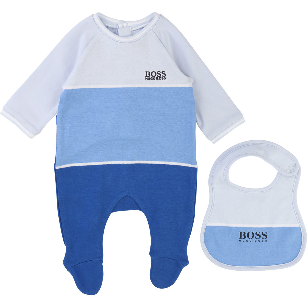 PAJAMA + BIB SET / Baby boy 1 month to 18 months