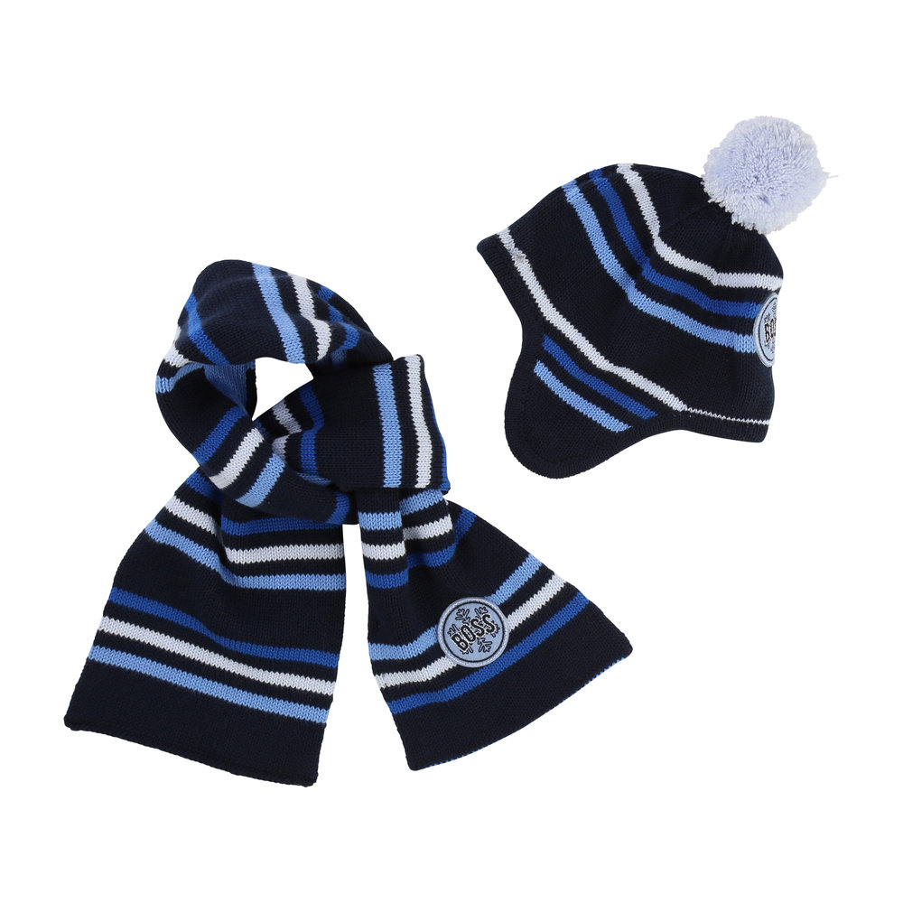 SCARF + HAT SET / Baby boy 1 month to 18 months