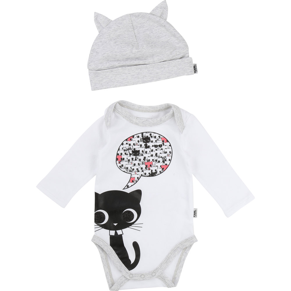 PAJAMA + HAT SET / Baby girl  1 month to 18 months