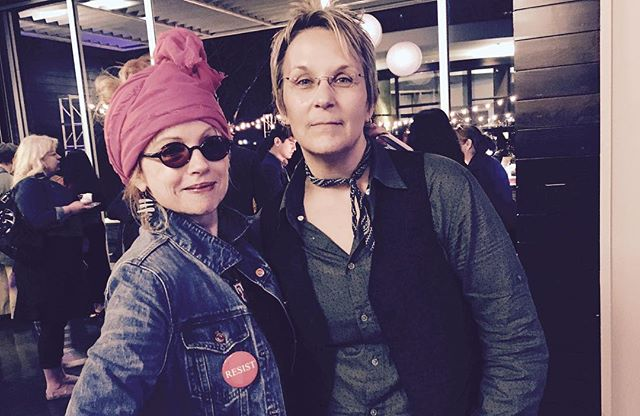 Me with my dear friend @marygauthier, renowned singer/songwriter,  who, along with yours truly is a charter member of the Badass Break Your Heart and Mend it Again Club. #nashvilleIWD