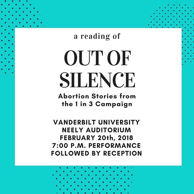 Glad to help break the silence. I will be reading a story of my own. Please join us this Tuesday evening in Nashville. #pressforprogress