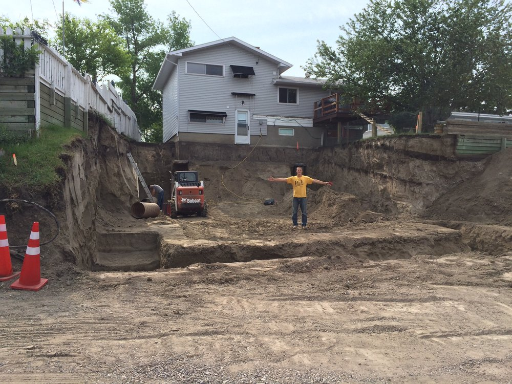 Making room for a new garage in Calgary, Alberta