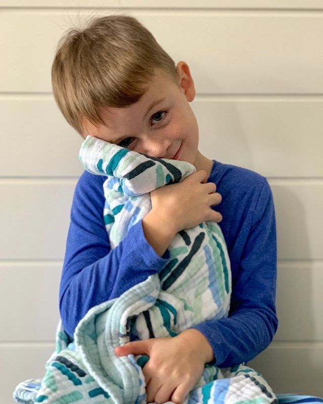 Small Business Saturday • Black Friday • Cyber Monday all week long! 40% off your entire order with code BLACKFRIDAY. Thanks to my *almost* 6 year old for giving his favorite blanket a sweet snuggle. 💙😘