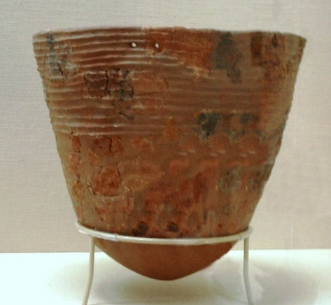 Jomon Pottery, Japan    textured and colored     10,000 to 12,000 years old