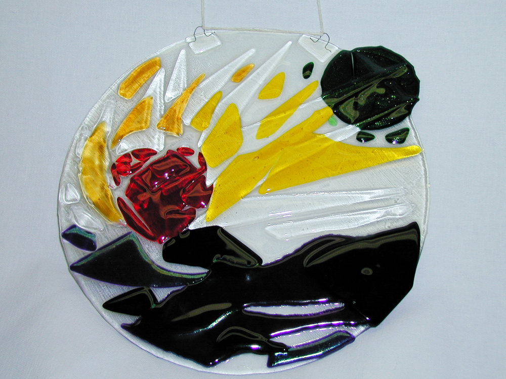 new day coming          2003        artists collection   my first glass piece!