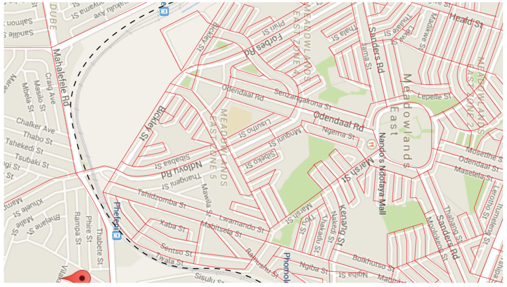 Process work - All the roads were traced from google maps. The railway was marked as a dotted line so that it was easily distinguishable from the rest of the streets.