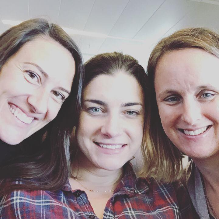 Pictured are members of the Postpartum Support Charleston staff and board at the Bloom Maternal Wellness peer support training. From left to right: Elaine, Katie and Amber are all survivors and they #stand4moms.