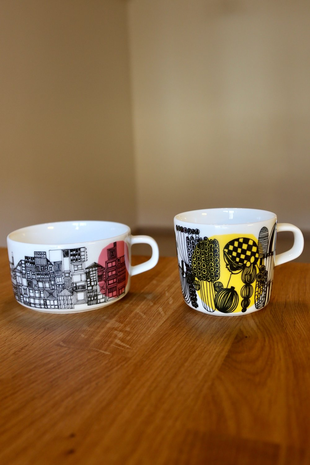 One can never go wrong at  Marimekko . I picked the larger cup up in Sydney, and the smaller one was a gift direct from Finland.
