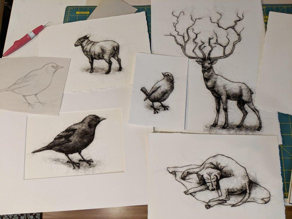 Stephanie Metz Wool drawings.jpg