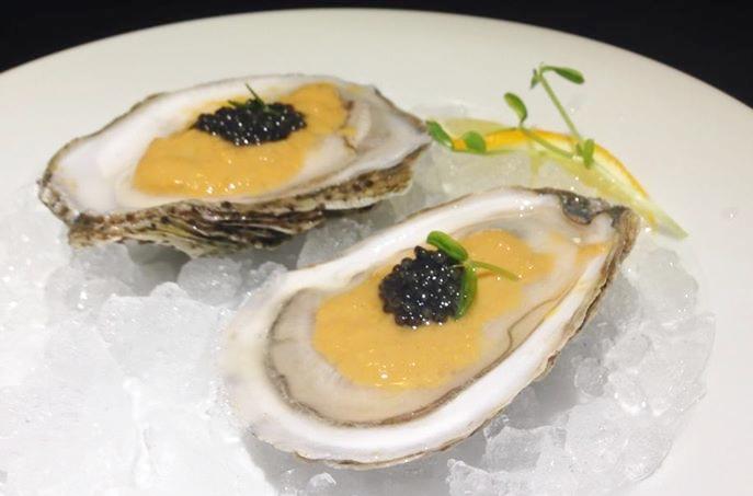 Oysters, Uni Sauce & Caviar