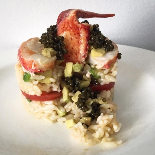 Lobster Medallions Rice - avocados, tomatoes, caviar