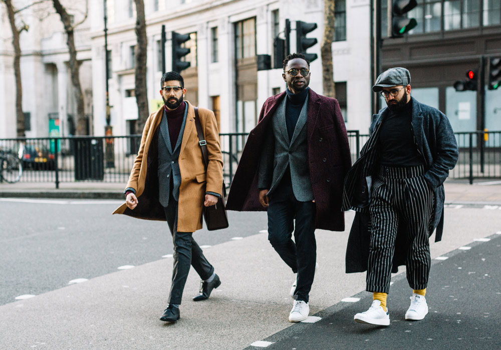 With Rashpal Amrit and Edmond Kamara for Buro247's Best Street Style from LFWM AW18