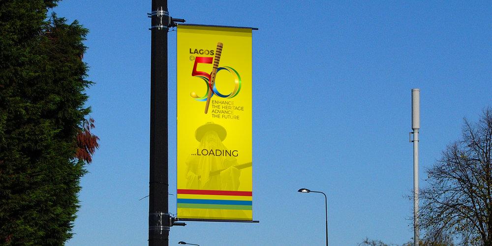 Lagos@50 lamppost