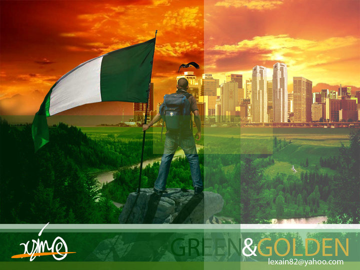 """Green & Golden"". One of the first set of personal works I showed to get my first advertising job"