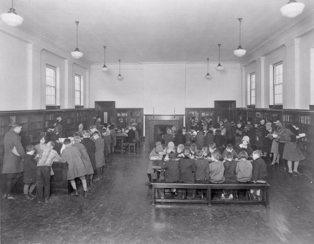 Toronto Public Library; Riverdale Branch, Broadview Ave., n.w. cor. Gerrard St. E.; INTERIOR, 1930