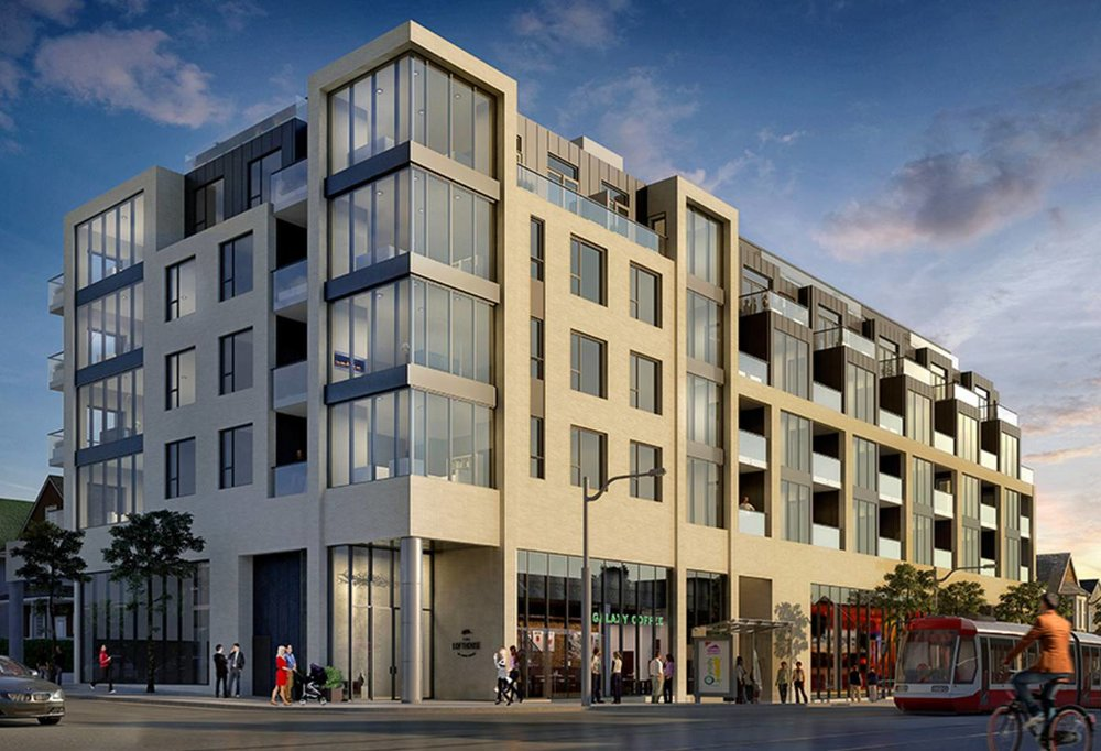 The proposed condo replacing The Beer Store at Gerrard and Logan