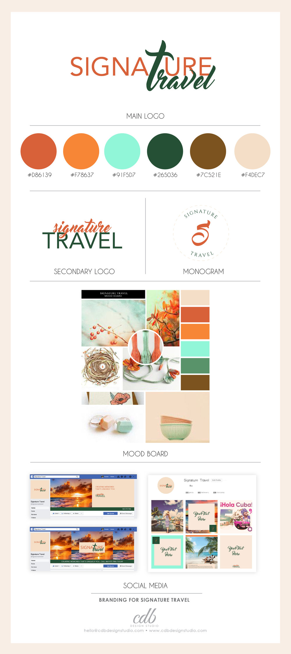 Signature Travel Brand Identity Design Case Study Branding Queen