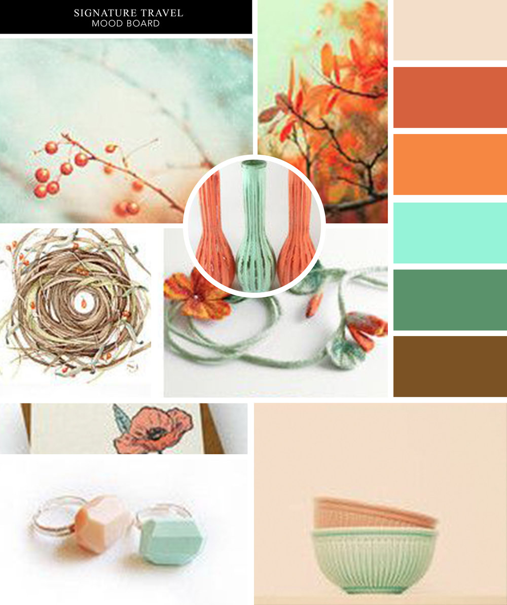 Signature Travel Mood Board Colour Palette Color Palette