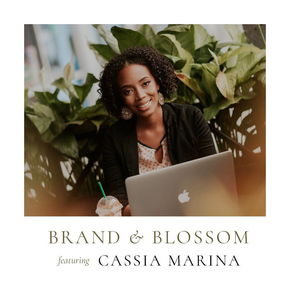 Stacy Barnes Brand and Blossom Podcast Squarespace Website Design Cassia Marina The Branding Queen