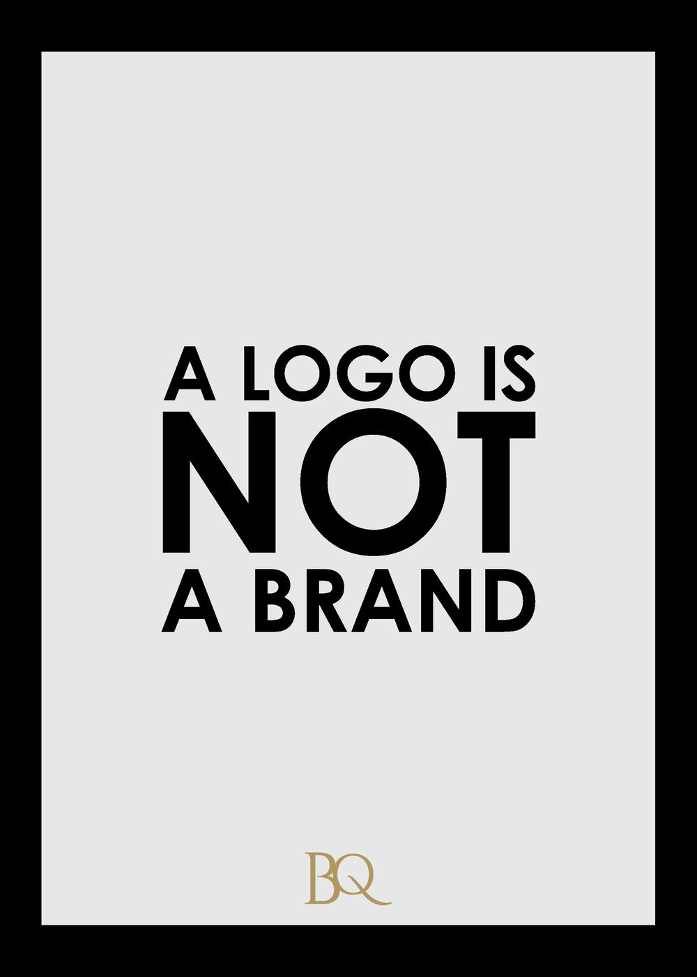 A logo is not a brand The Branding Queen cdb design studio