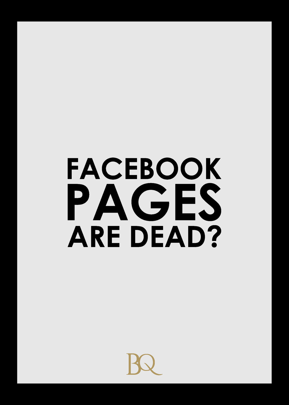 Facebook Pages Are Dead The Branding Queen cdb design studio