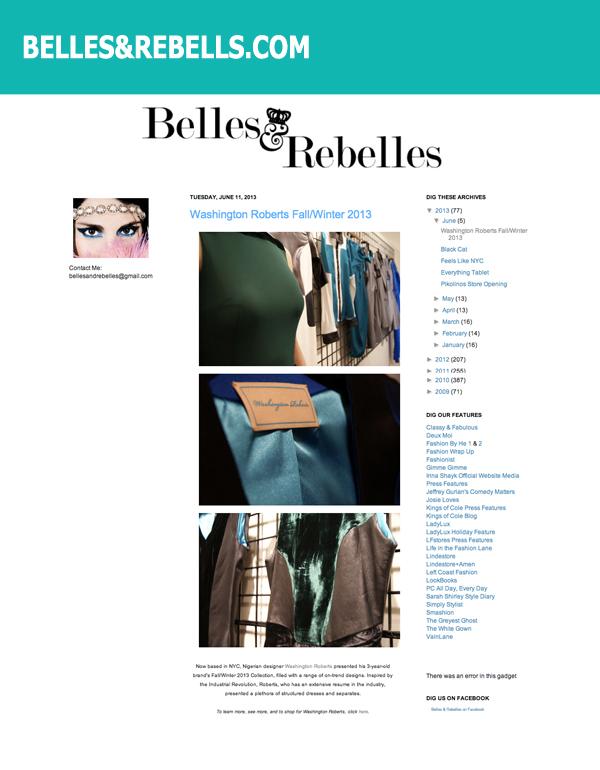 BELLES & REBELLES