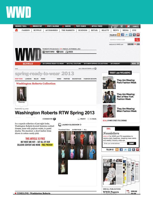 WWD (NYFW SEPT 2012)
