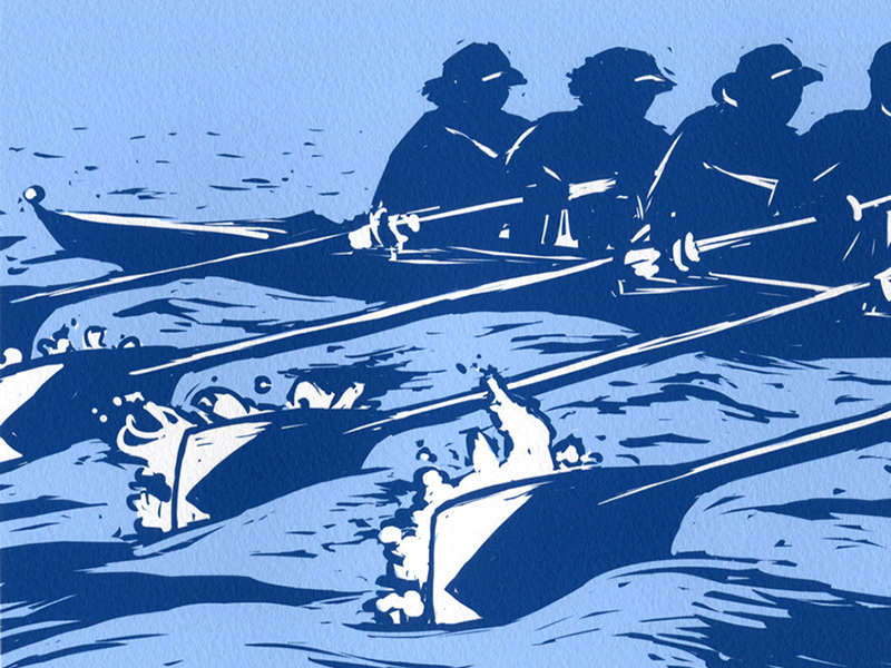 Rowing Illustration