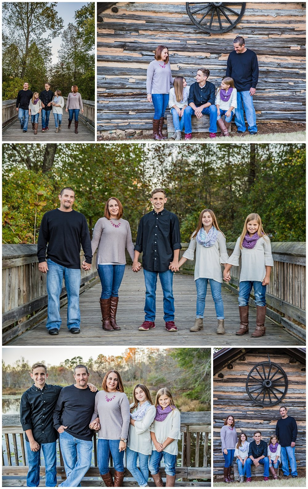 Yates Mill Park Family Portraits