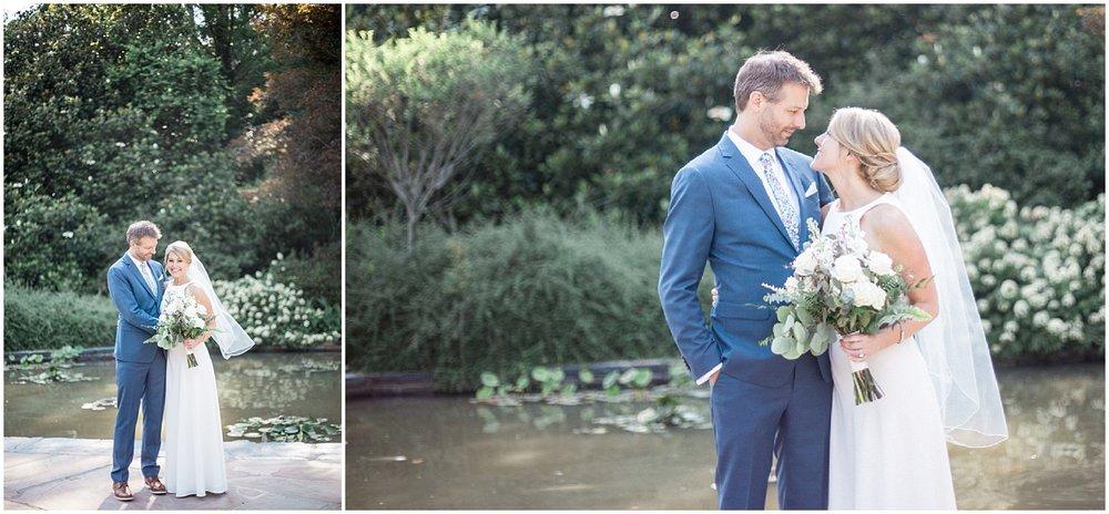 First Look Duke Gardens Wedding